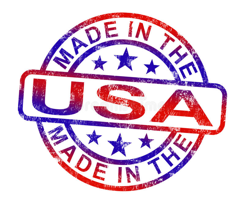 Made In USA Stamp Shows American Products Or Produce vector illustration