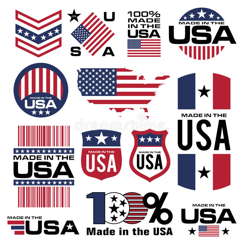 Made in the USA vector illustration