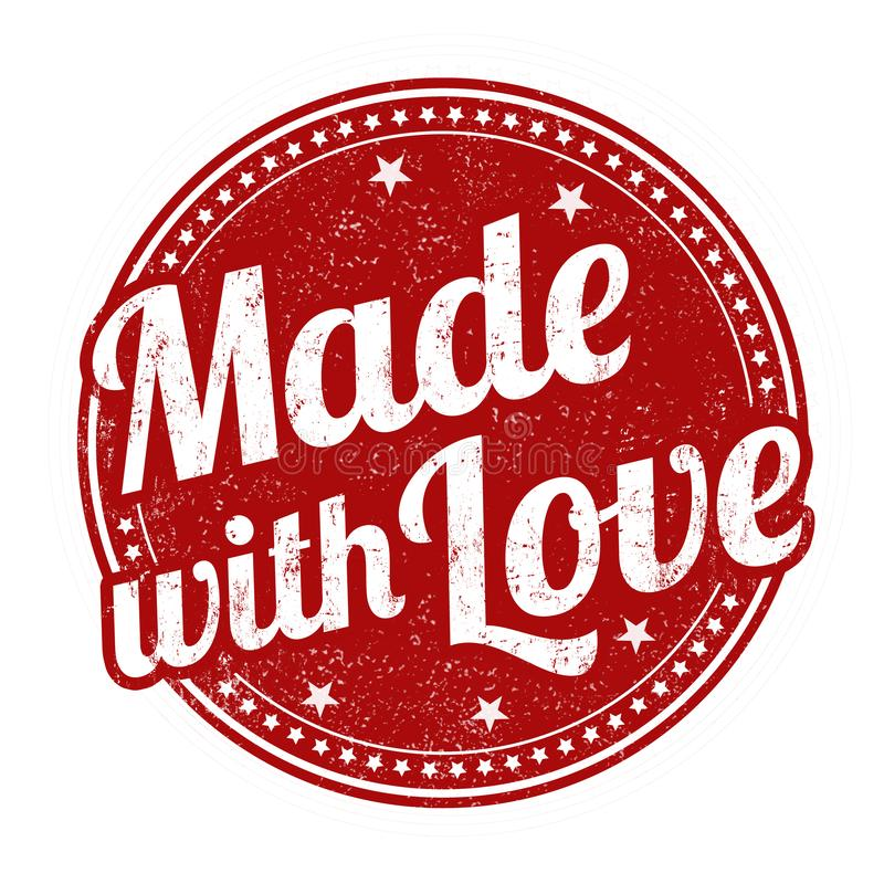 Free Made With Love Sign Or Stamp Stock Image - 145235921