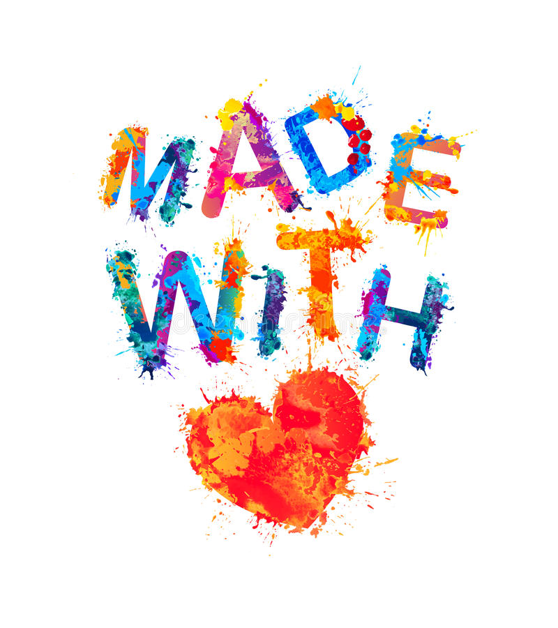 Free Made With Love. Vector Splash Paint Stock Photography - 94397182