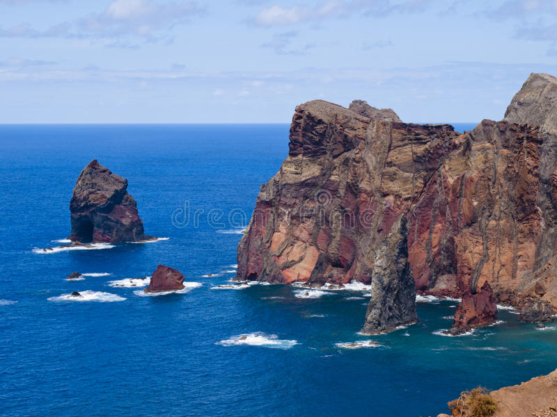 Madeira. East coast of Madeira island - Ponta de Sao Lourenco royalty free stock photos