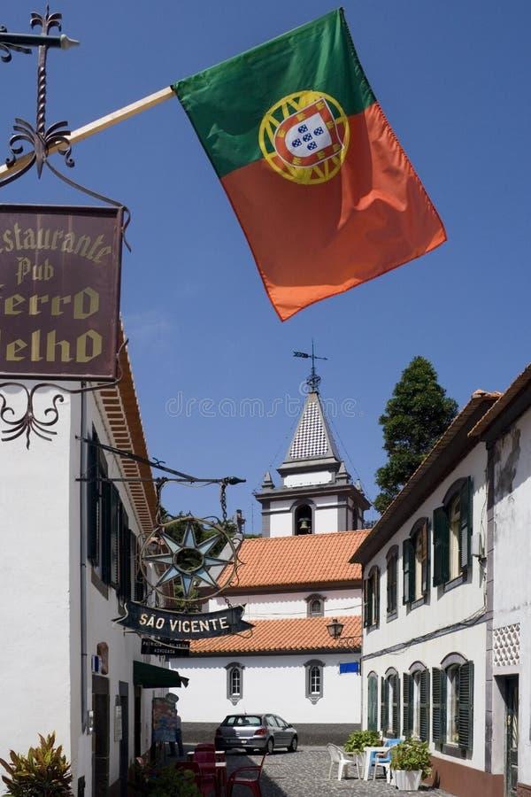 Madeira - aldea de Vicente del sao imagenes de archivo