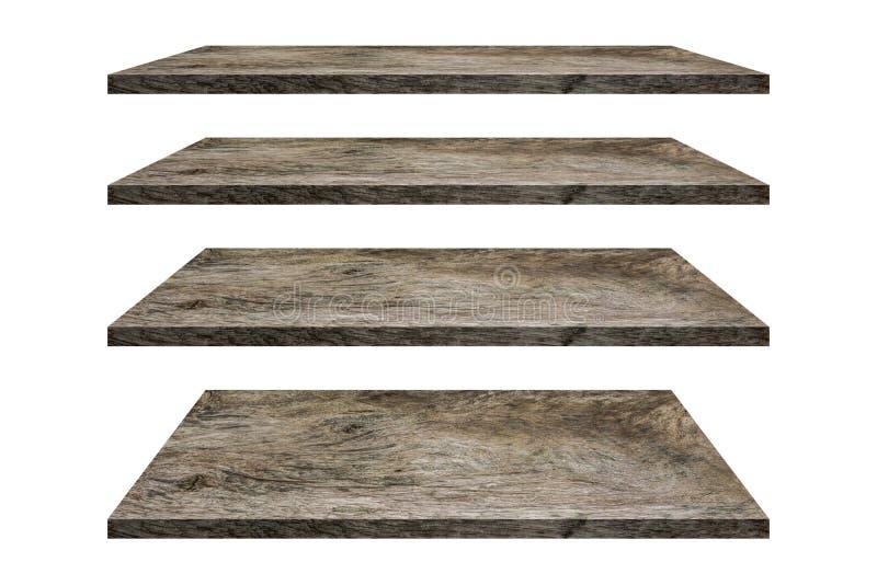 A madeira arquiva a coleção do tampo da mesa isolada no fundo branco O trajeto de grampeamento inclui nesta imagem imagens de stock