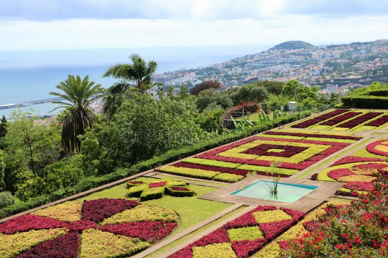 Madeira Botanical Garden. In Funchal, the largest city on Madeira island, Portugal. It opened to the public in 1960. The area was previously part of an estate royalty free stock photography