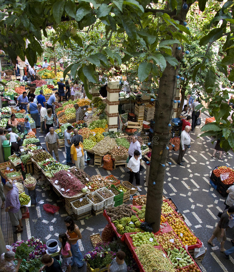 Madeira - Central Market in Funchal stock photo