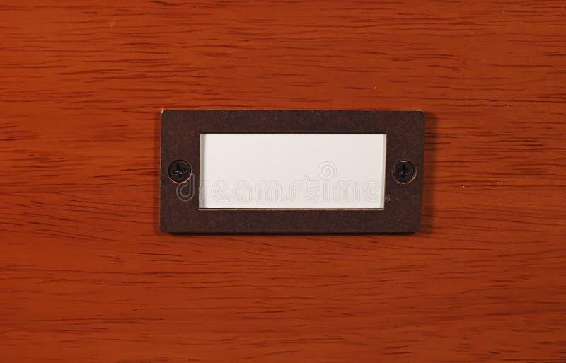 Madeira Com Placa Conhecida Imagem de Stock