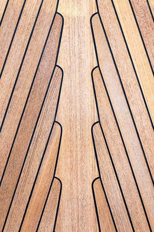 Madeira da teca no barco foto de stock royalty free