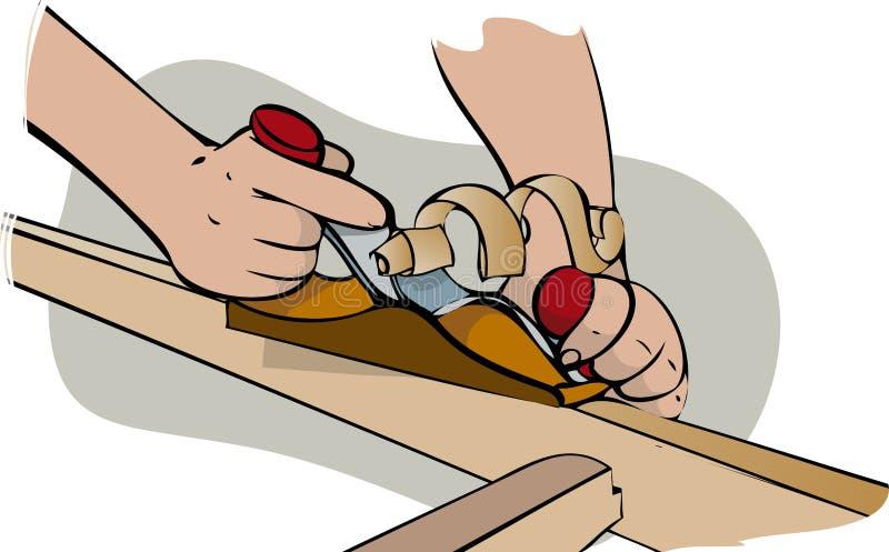 Madeira de aplanamento ilustração stock