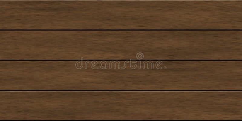 A madeira de Brown embarca a textura sem emenda ilustração do vetor