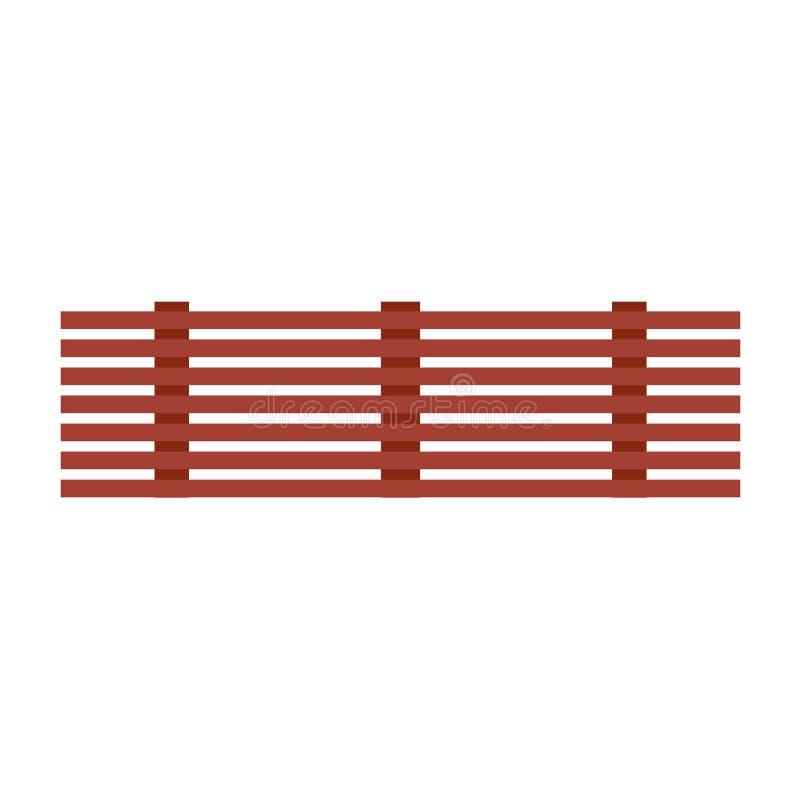 Madeira de madeira da placa do ícone do vetor da prancha Folhosa retro do painel dos desenhos animados de Brown Gráfico liso da e ilustração stock