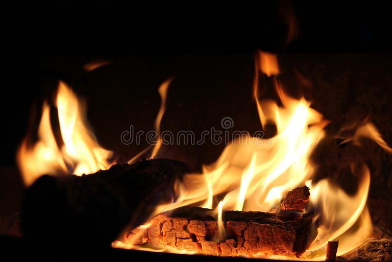 Madeira do incêndio imagem de stock