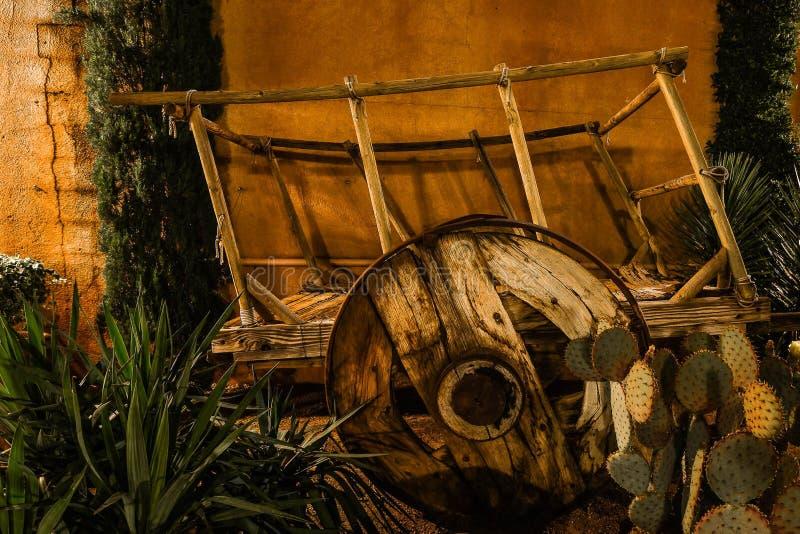 Madeira do vagão do oeste imagens de stock