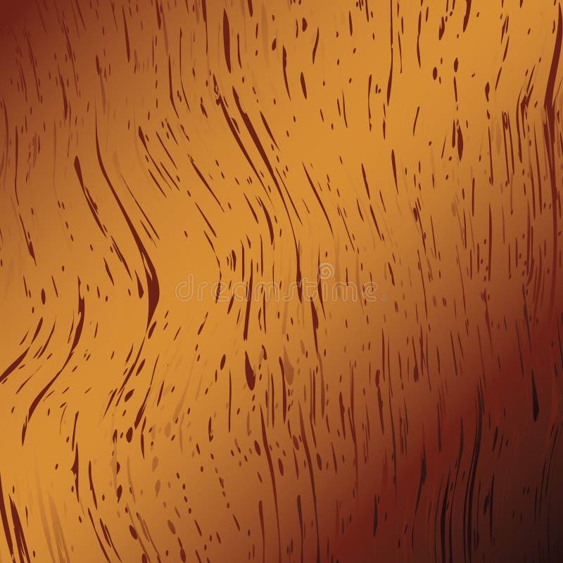 Madeira dourada ilustração do vetor