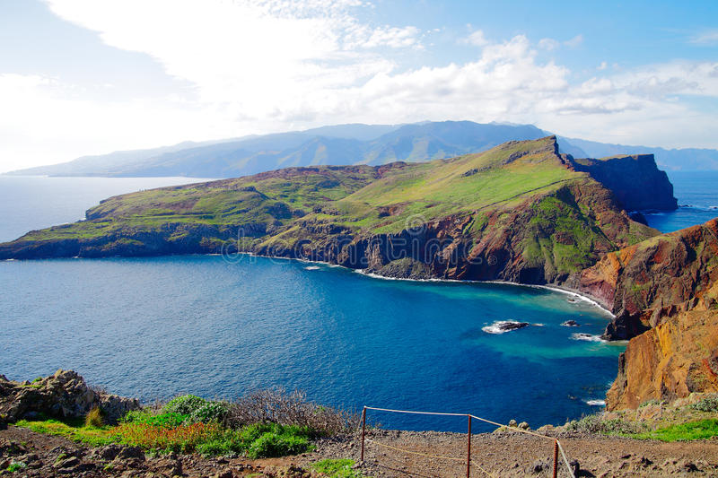 Madeira. East coast of Madeira (Portugal royalty free stock photography