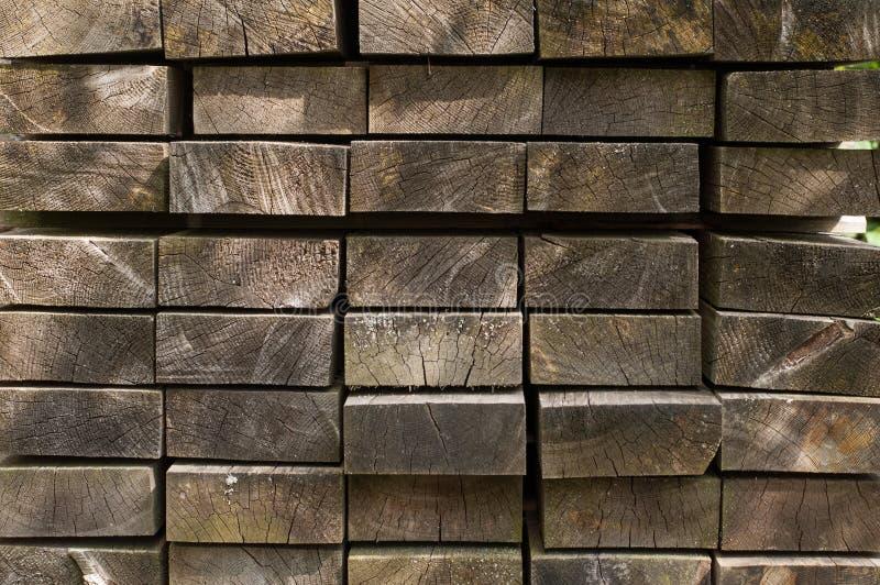 Madeira empilhada na jarda naughty foto de stock royalty free