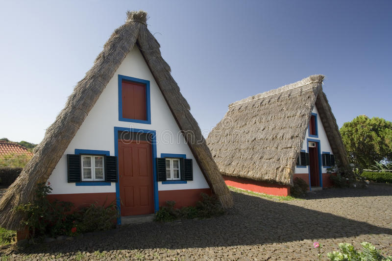 Madeira A-Frame House royalty free stock photography
