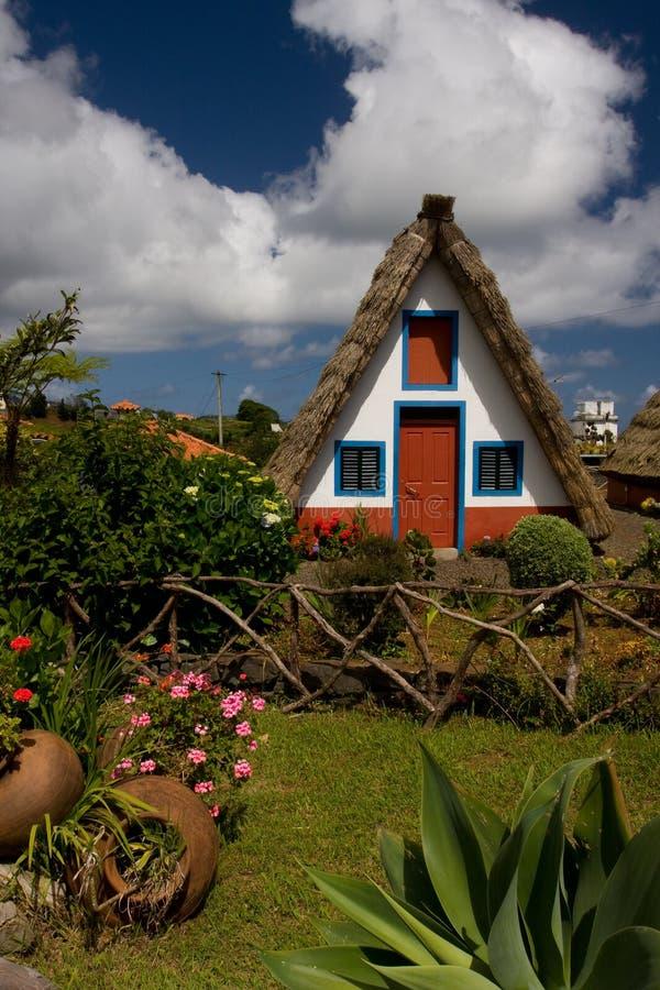 Madeira-Haus stockbilder
