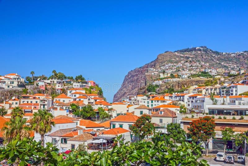 Madeira-Insel Fischerdorf Camara de Lobos, Portugal stockfotos