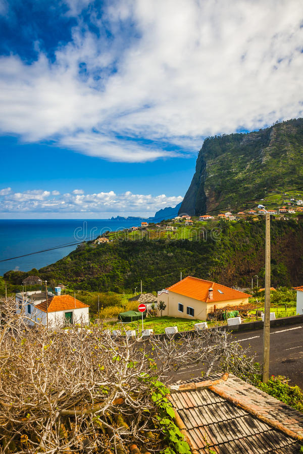 Madeira island, from Faial village stock images