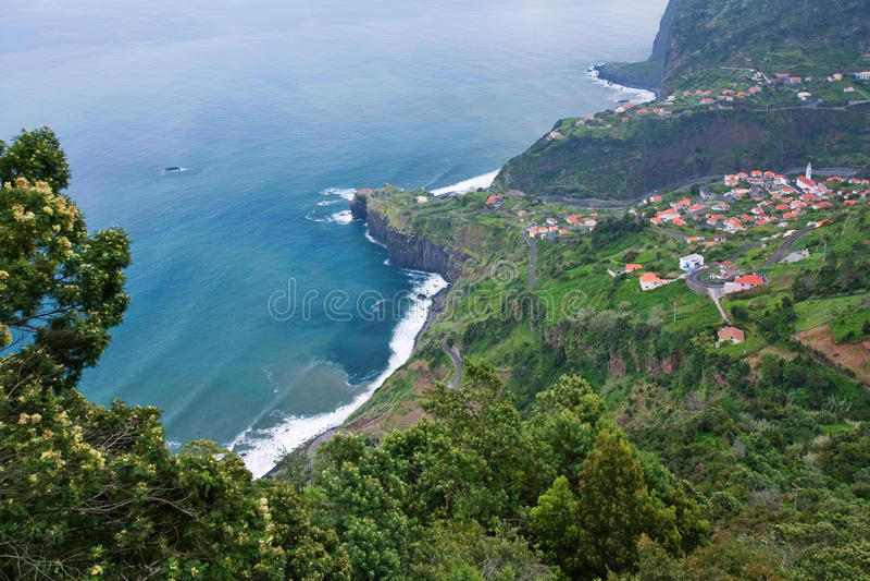 Madeira-Küste stockbild