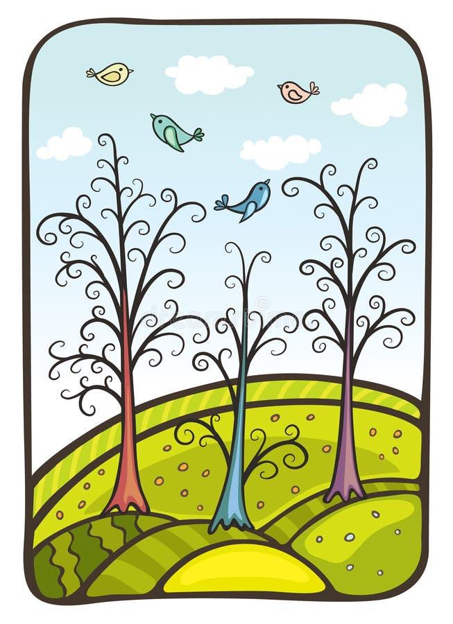 Madeira mágica ilustração royalty free