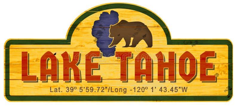 Madeira Nevada California do sinal de Lake Tahoe ilustração royalty free