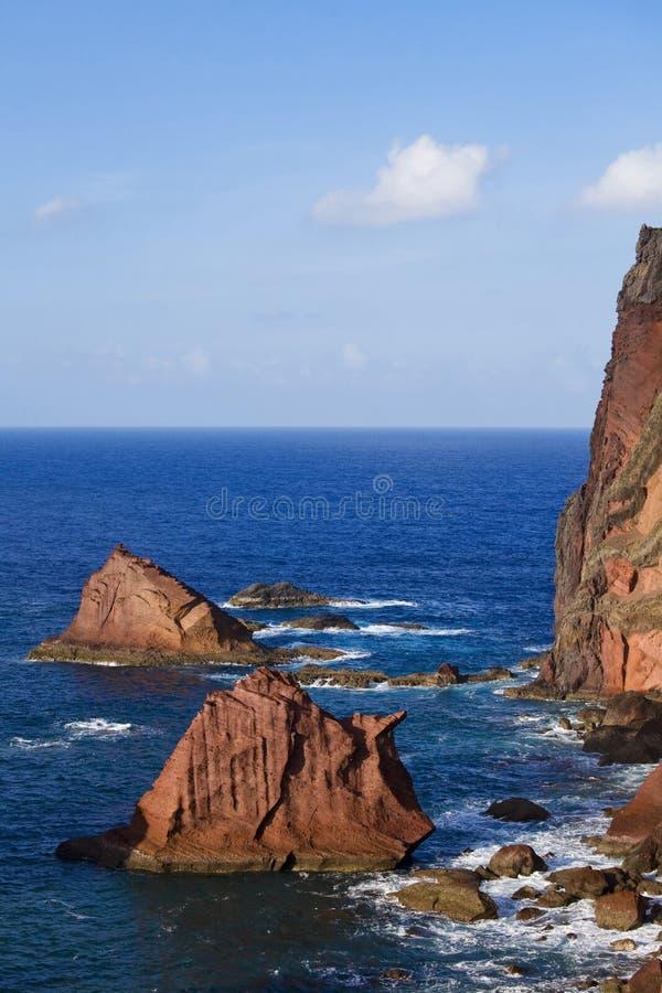 madeira piękny brzegowy wschodni widok obraz royalty free