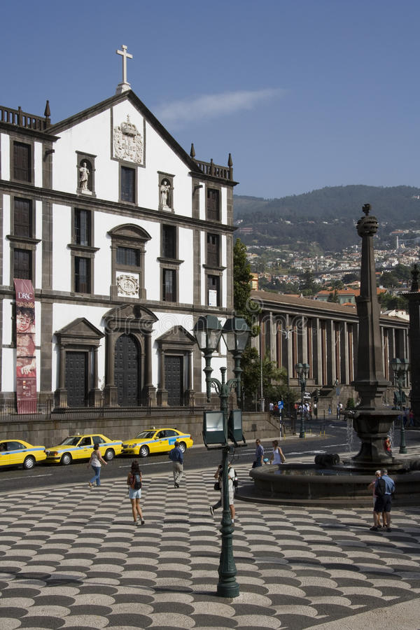 Madeira - Praca do Municipio in Funchal royalty free stock image