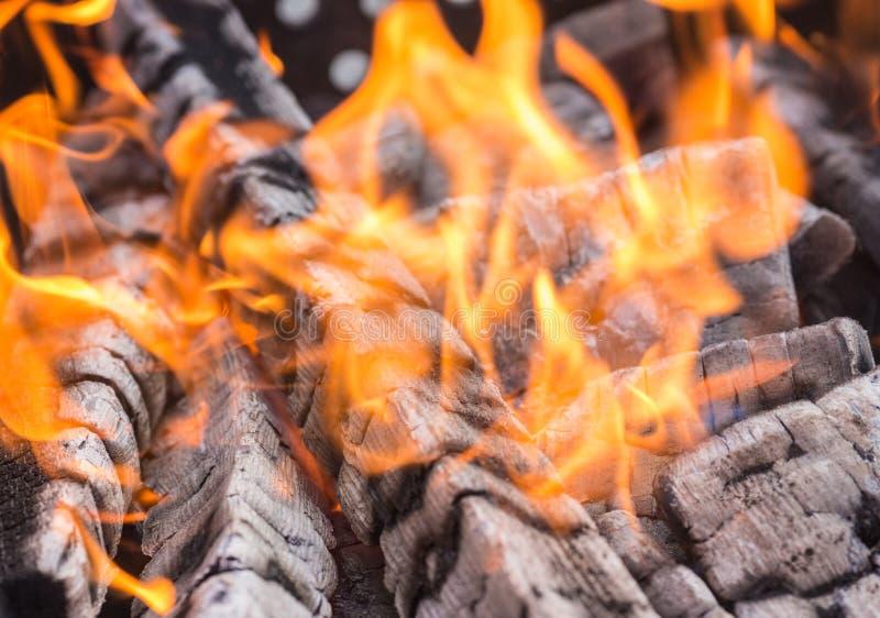 Madeira que queima-se no fogo - fundo fotos de stock royalty free