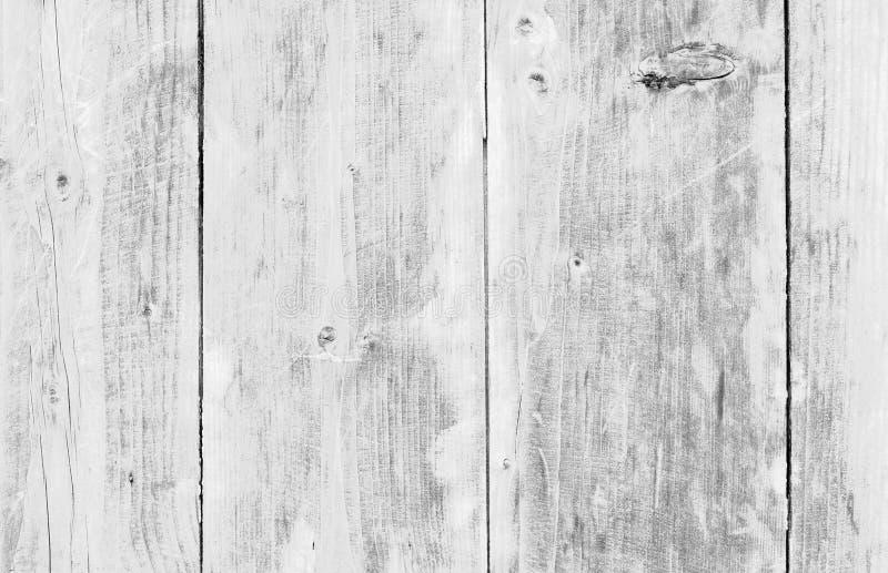 Madeira velha branca ou teste padrão decorativo de madeira do fundo de superfície do assoalho ou da parede da prancha do vintage  fotografia de stock royalty free