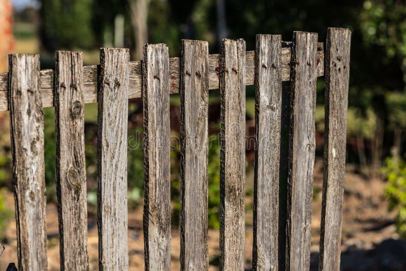 Madeira velha da cerca de madeira real fotografia de stock royalty free