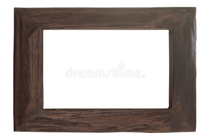 Madeira velha da placa do quadro da foto isolada no fundo branco Clippin imagem de stock royalty free