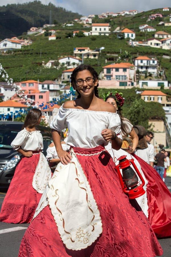 Madeira-Wein-Festival in Estreito De Camara de Lobos, lizenzfreies stockbild