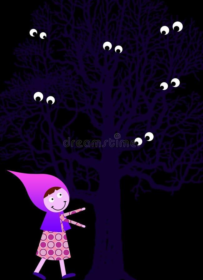 Madeiras assustadores ilustração stock