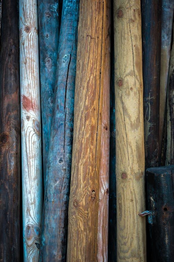 Madeiras coloridas imagem de stock