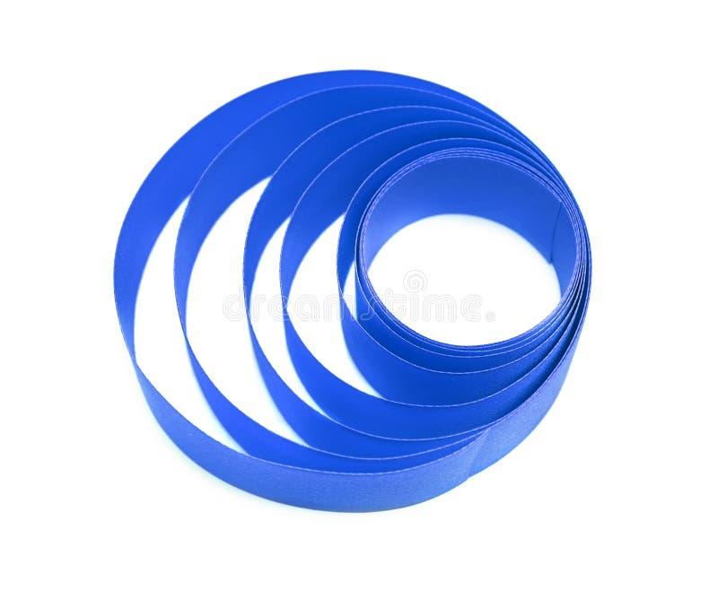 Madeja de la cinta de satén azul foto de archivo