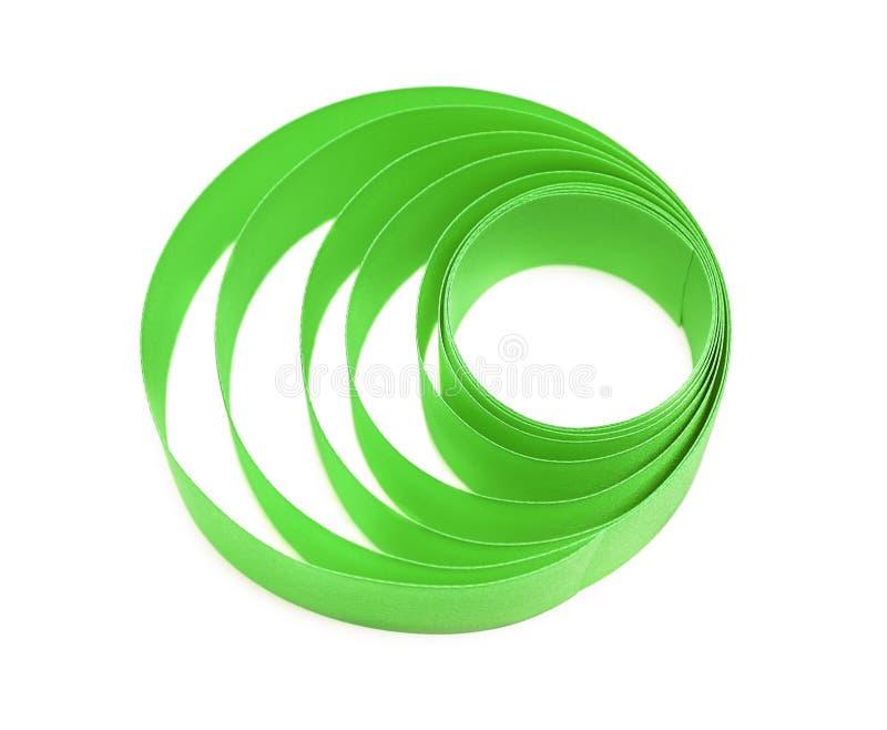 Madeja de la cinta de satén verde foto de archivo