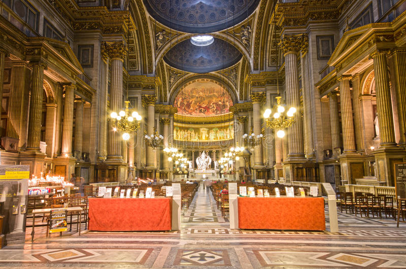 Download Madeleine Church Interior Wide Angle View. Editorial Photo - Image: 28126841
