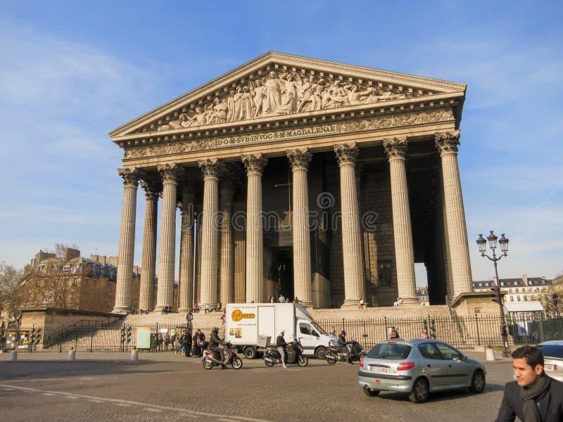 Madeleine Church, Paris lizenzfreies stockbild