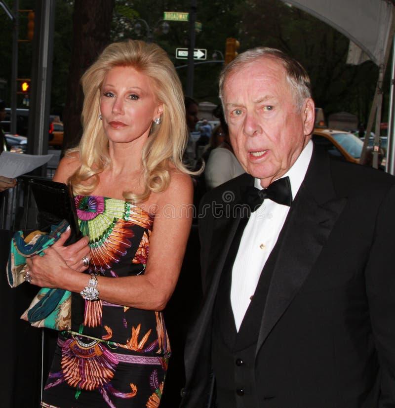 Madeleine Pickens e T. Boone Pickens fotografia de stock