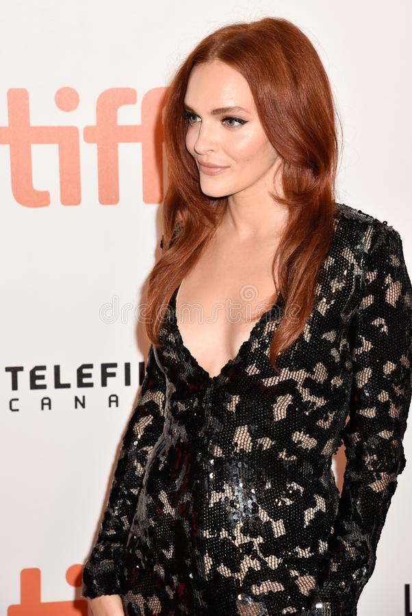 Madeline Brewer at the premiere of Hustlers movie at Toronto International Film Festival stock photography