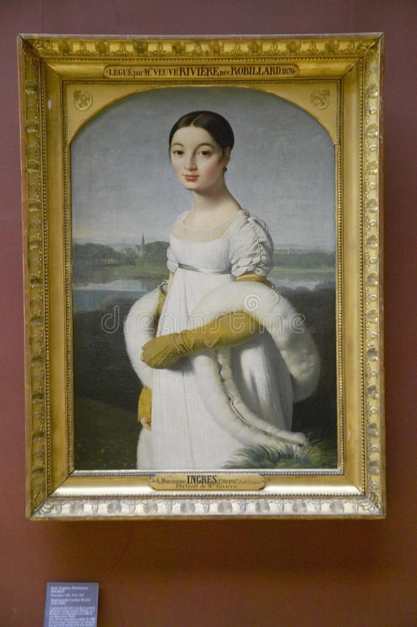 Free Mademoiselle Caroline Riviere, By Jacques Louis David, 1806 At The Louvre Museum, Paris, France, Oil On Canvas Stock Images - 52317594