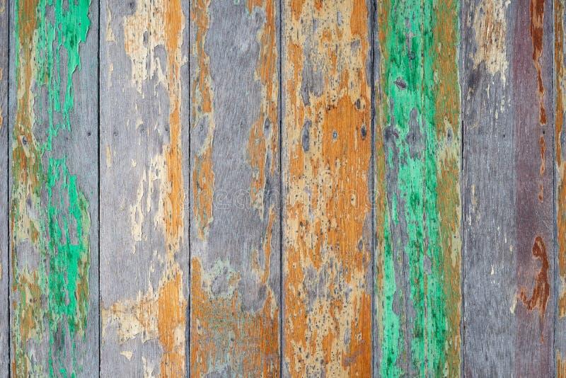 Madera abstracta del grunge con el viejo fondo pintado agrietado de la textura Fondo material de madera para el papel pintado rú fotos de archivo