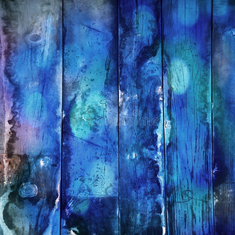 Madera azul ilustración del vector