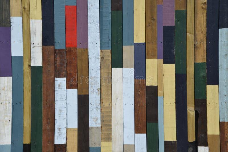 Madera coloreada imagenes de archivo