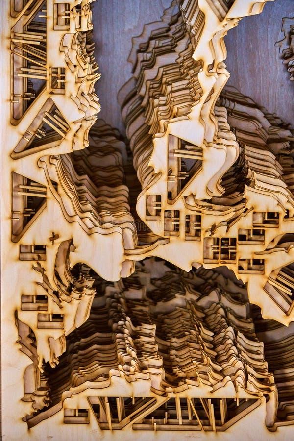 Madera contrachapada cortada por el laser fotos de archivo
