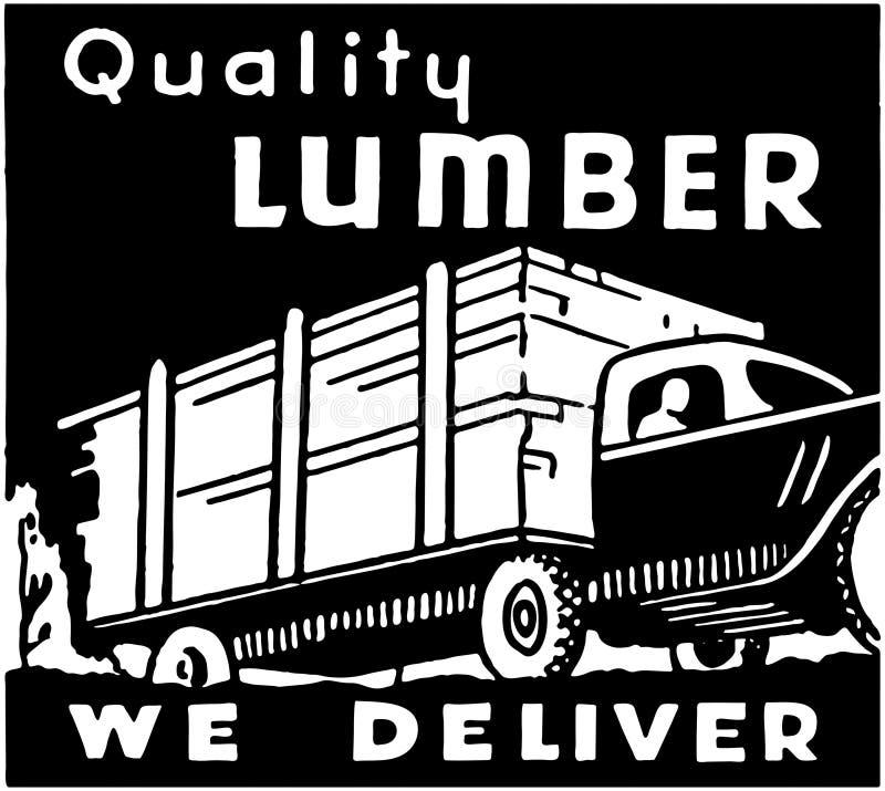 Madera de construcción de la calidad stock de ilustración