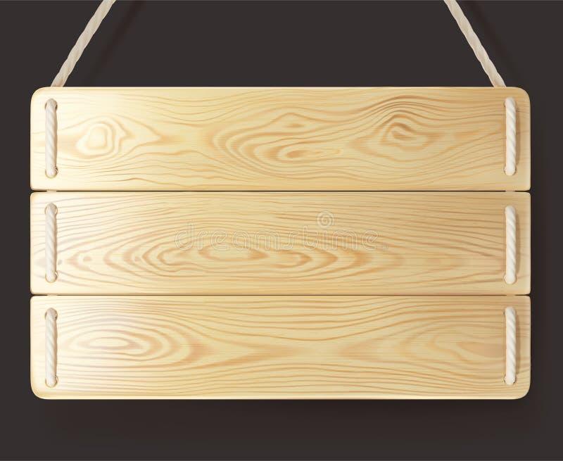 Madera de madera de la muestra con la cuerda imágenes de archivo libres de regalías