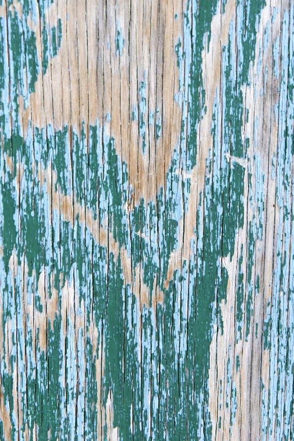 Madera de la turquesa de la peladura fotografía de archivo libre de regalías