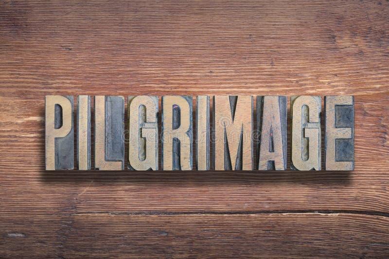 Madera de las letras del peregrinaje fotografía de archivo libre de regalías